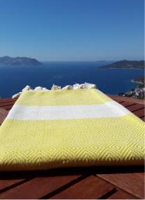 Hamam Kas Handtuch Gelb